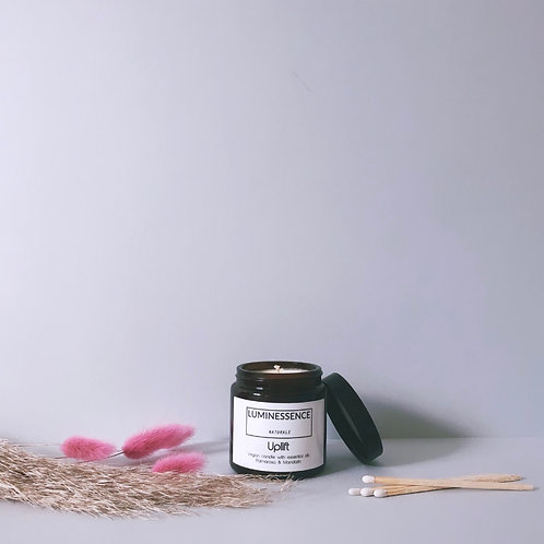 Uplift Vegan Candle with 2 Pure & Clean essential oils