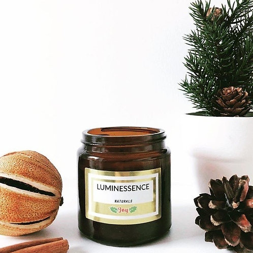 Christmas Joy 100% Natural aromatherapy candle with pure essential oils