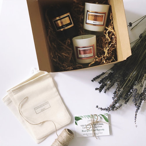 Discovery set / trio of aromatherapy candles