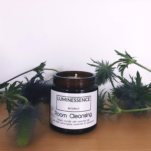 Vegan Candle with 5 Pure &Clean cleansing essential oils