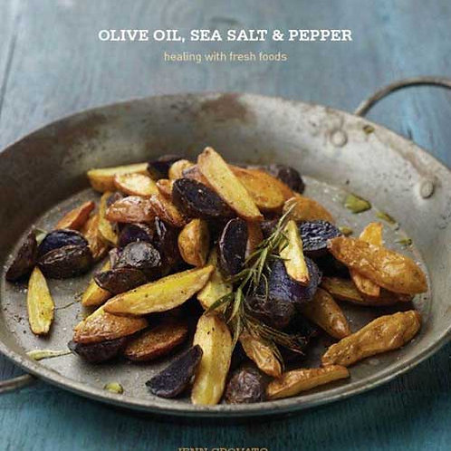 Paperback Olive Oil, Sea Salt & Pepper Cookbook