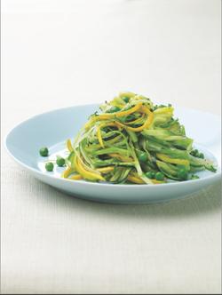 zucchini, leeks, peas & mint