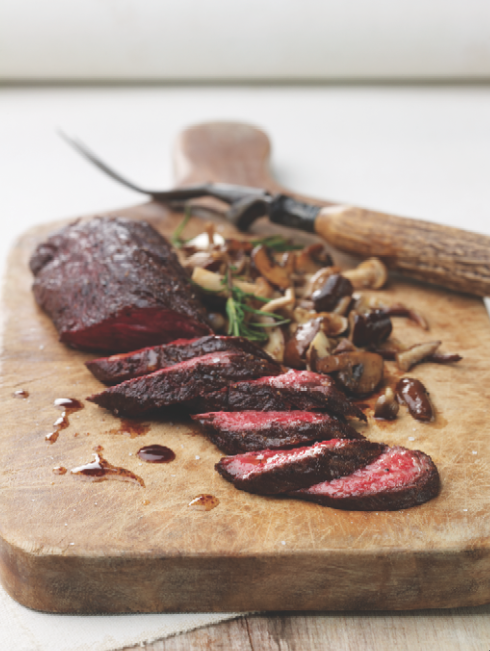 hanger steak & sautéed mushrooms