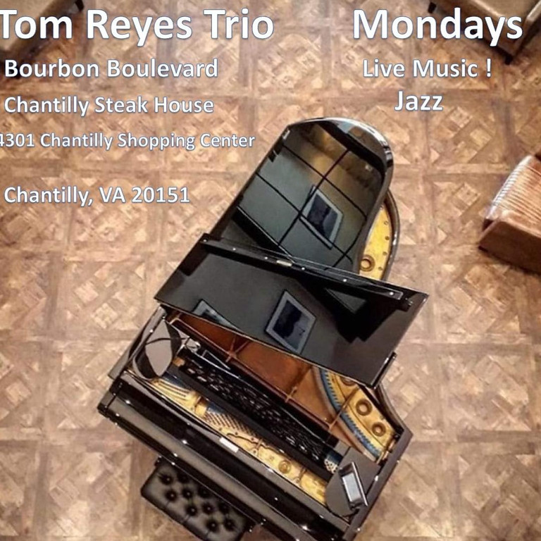 Live Jazz Music by Tom Reyes Trio - Every Monday