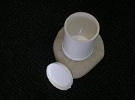 Top view looking into PVC urn (medium size)