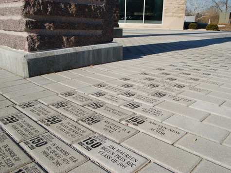 Engraved brick fundraising project at Butler University