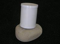 Side view with PVC lid attached