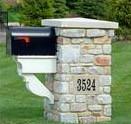 Mailbox Address Stone