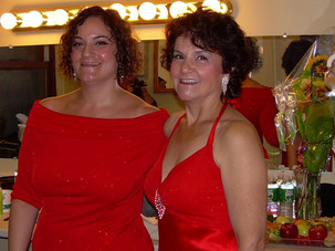 Maryann and Tiffany, pre-show backstage at Count Basie Theater