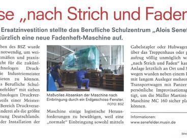 Neumaschinenanlieferung durch die ZBV Fels GmbH in München