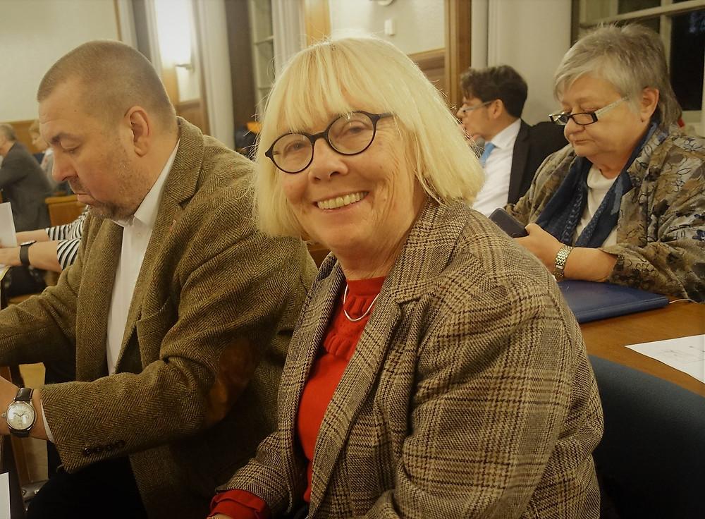 Elfi Manteuffel - jetzt wieder zurück in der Bezriksverordnetenversammlung.