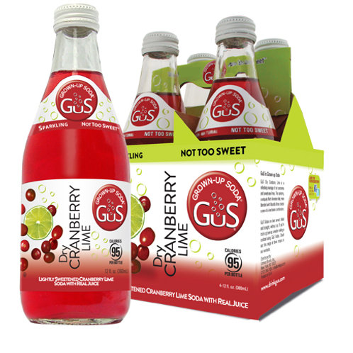 GUS GROWN-UP SODA DRY CRANBERRY LIME 24 ct.Case