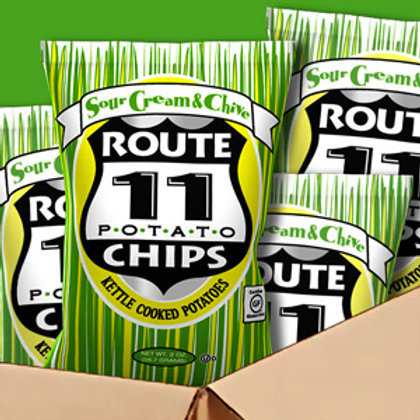 Route 11 Sour Cream & Chive Chips 1 bag