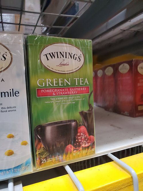 Twining's Pomegrante & Strawberry Green Tea 25ct.