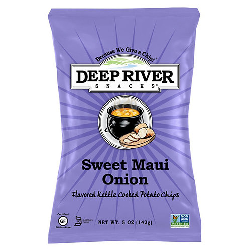 Deep River Sweet Maui Onion Chips 1 Case (24 Bags)