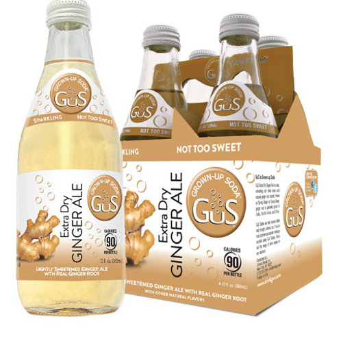 GUS GROWN-UP SODA EXTRA DRY GINGER ALE  4pk