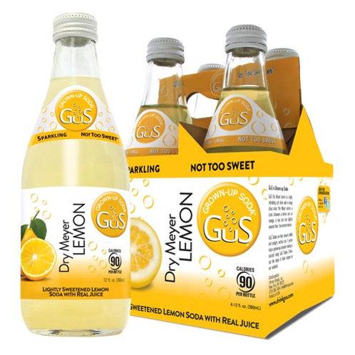GUS GROWN-UP SODA DRY MEYER LEMON 4pk