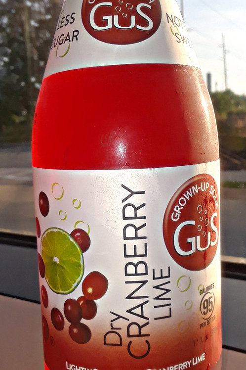 GUS GROWN-UP SODA DRY CRANBERRY LIME