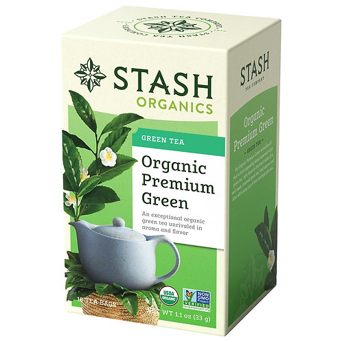 Stash Organic Premium Green Tea 30 bags