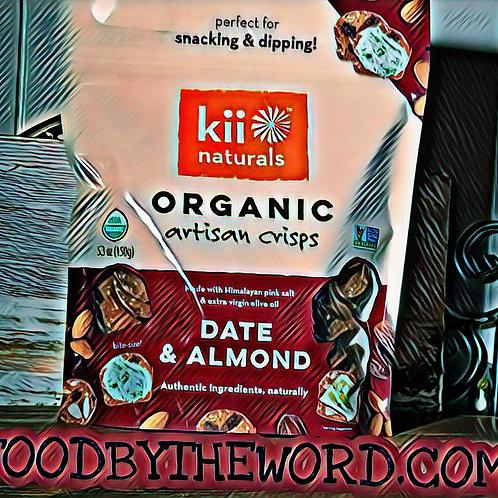 Kii Naturals Organic Bites Date & Almond 12 ct.