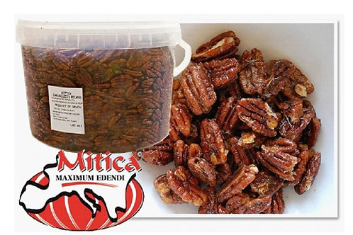Mitica Caramelized Pecans 10 LB. Pail