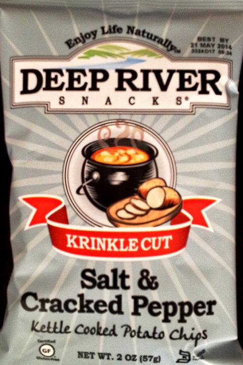 DEEP RIVER CHIPS KRINKLE CUT SALT & CRACKED PEPPER