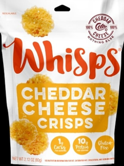 Whisps Cheddar Cheese Crisps 12 - 2.12 oz. bags