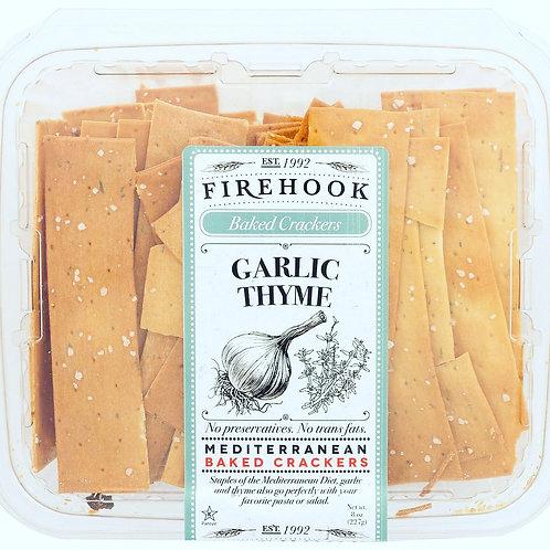 Firehook Organic Flatbread Garlic Thyme 5.5oz (8ct.)