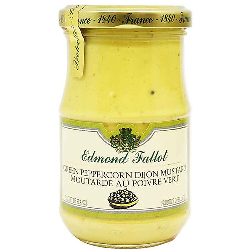 Edmond Fallot Green Peppercorn Mustard 12ct. case  7oz. jar