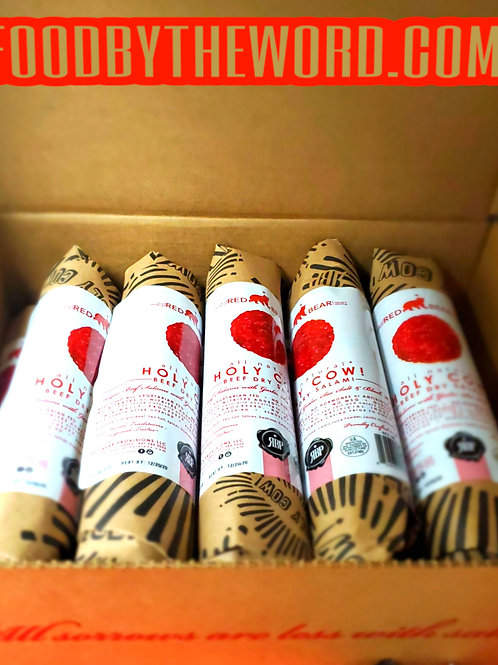 Red Bear Provisions Holy Cow! Dry Salami Chubs 1 Case 12 (6oz.)