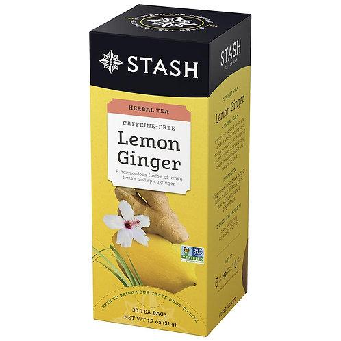 Stash Lemon Ginger Tea 30 bag ct.