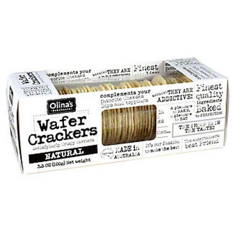 Olina's Natural Wafer Crackers  1 box