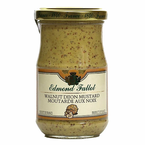 Edmond Fallot Walnut Dijon Mustard 12ct. case 7oz. jar