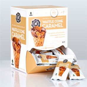 Mini Milk Waffle Caramel Bar .07oz - Per Box