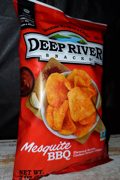 Deep River Mesquite BBQ Chips 1 Case (24 bags)