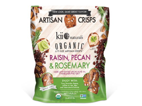 Kii Naturals Organic Bites Raisin/Pecan/Rosemary 12 ct.