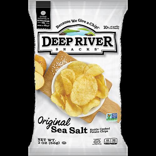 Deep River Sea Salt Chips 1 Case (24 Bags)