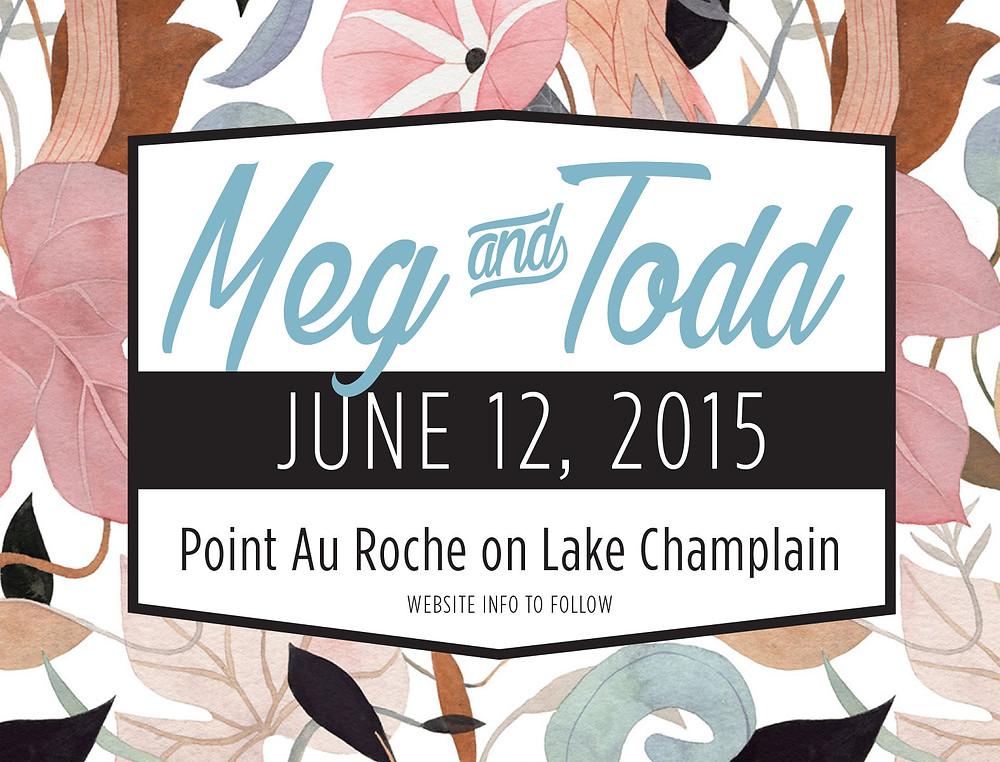Meg wedding invite