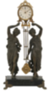 ANSONIA-HUNTRESS-FISHER-DOUBLE-FIGURAL-S
