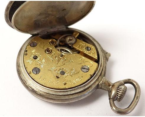 lot-2-montres-argent-massif-poincon-crab
