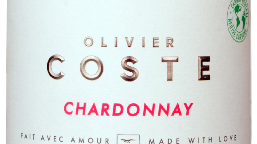 Olivier Coste Chardonnay 2019 'A very fine Chardonnay for your fridge door'