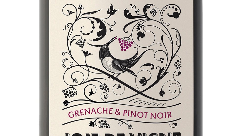 Joie de Vigne 2018   'Grenache/Pinot Noir, fruity, juicy and great for the BBQ'