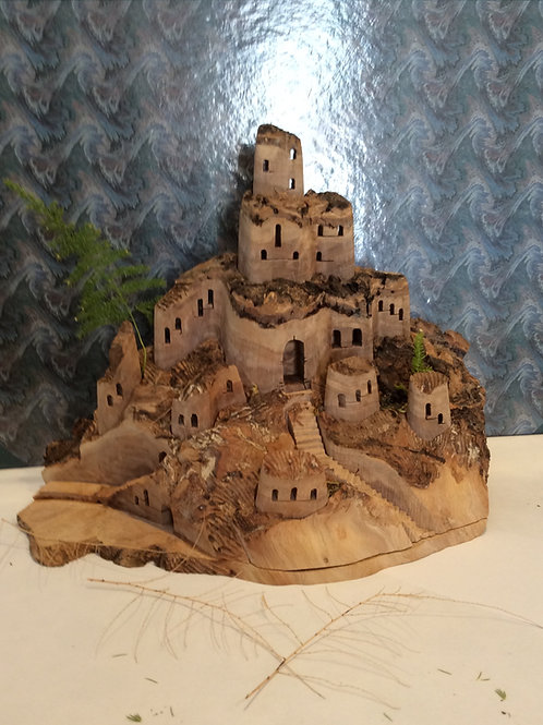 Olive wood Towers/Castle Houses