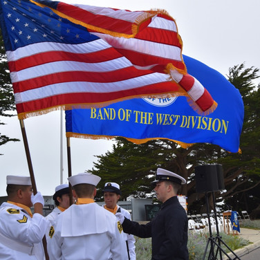 Parade of Colors at the USS SF Ceremony