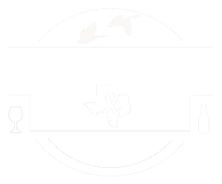 "Main Street Bar & Venue logo: includes silhouettes of Texas, two geese, a wine glass, and a beer glass, with the text ""Main Street Bar & Venue"" and ""Eagle Lake,Texas"""