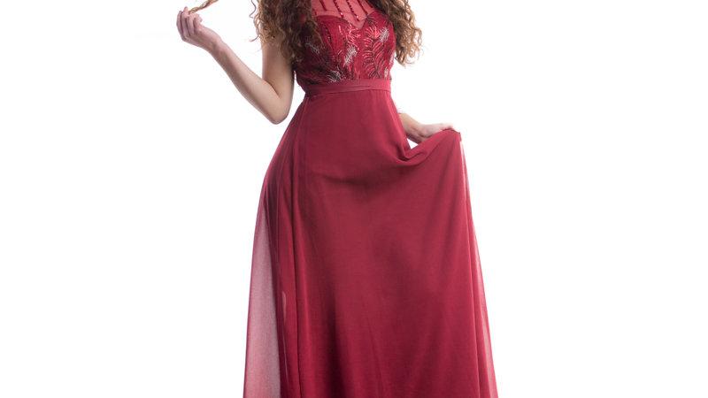 Vestido Largo con mostasilla
