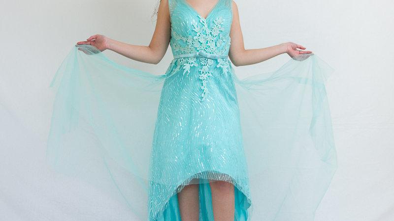 Vestido Gala con Escote