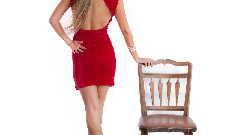 vestido corto pluch