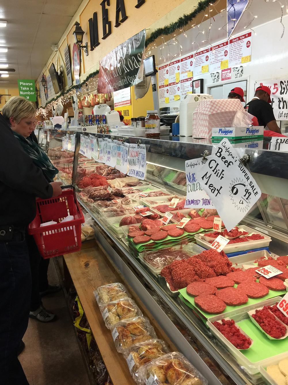 Meat counter a Carfagnas