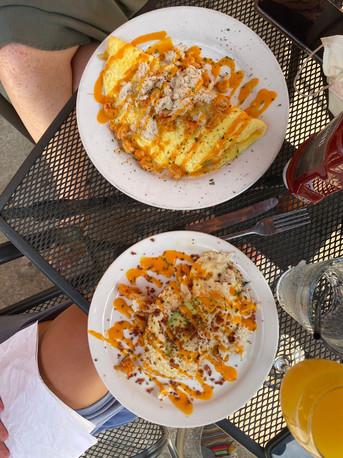 omelette mamou + eggs pontchartrain